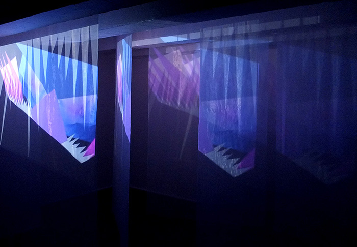 Material Girl, audiovisual installation, videoprojection, Gallery Dole, Ostrava, 2015